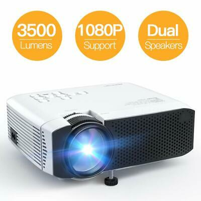 Projector, APEMAN Mini Portable 3500L Video Projector LED with Dual Speakers