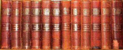 LEATHER Set;ENCYCLOPEDIA OF AMERICAN BIOGRAPHY! DNB (1898) Britannica AMERICANA!