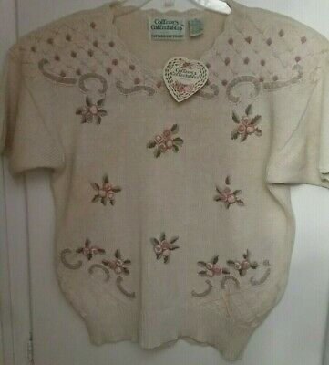 COLLEEN'S COLLECTABLE SHORT Sleeve Top Sweater Knittted by