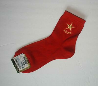 NOS -- Rare -- Vintage 1990's Moschino Red Socks
