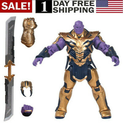 """US! Marvel Legends Thanos 8"""" Action Figure Avengers: Endgame Armored Thanos Toy"""