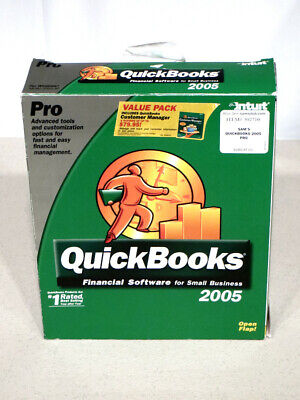 Intuit QuickBooks Pro 2005 Financial Software W/ Key & Customer Manager!