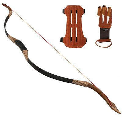 30-50lb Traditional Archery Recurve Bow Handmade Longbow Horsebow Hunting Target