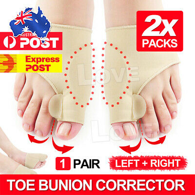 1 Pair Big Toe Bunion Splint Straightener Corrector Hallux Valgus Foot Separator