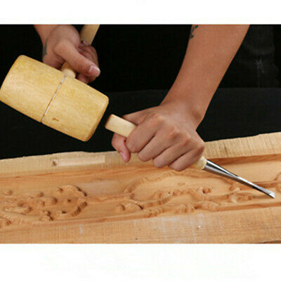 Hardwood Joiners Wood Wooden Mallet Chisel Chiseling Large Head Hand Carpenters