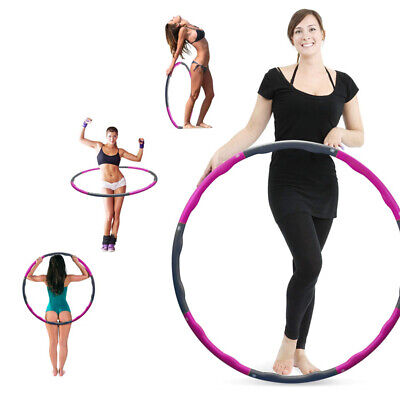 Weighted Hula Hoop 8 Section, 2.2 Pound Fitness Exercise Hula Hoop,Abs Exercise