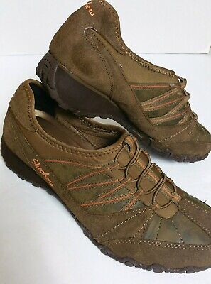Details about Skechers Relaxed Fit Memory Foam Womens Sz 8.5 SN49077 Brown Slip On Shoes Mules