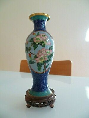 Vase Chine Bronze Cloisonne De Porcelaine China Asia Art