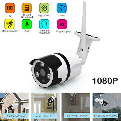 1080P WIFI IP Camera Wireless Outdoor Smart Home Surveillance Security IR Camera