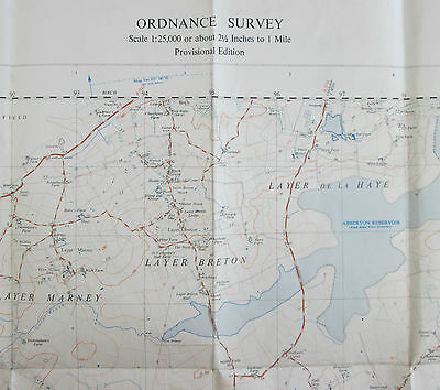 1955 old OS Ordnance Survey 1:25000 First Series Prov map TL 91 Tollesbury