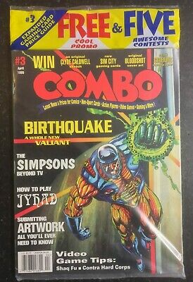 COMBO #3 April 1995 - Trading Card Action Figure Comic Magazine NEW The Simpsons