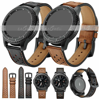 Quick Replacement Luxury Genuine Leather Wrist Watch Band Easy Fit Strap 22mm