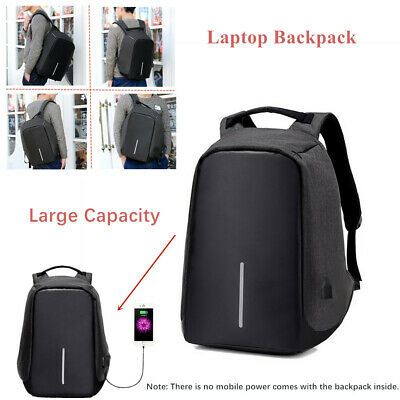 Anti-theft Unisex Laptop Notebook Backpack+ USB Charging Port School Bag College