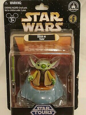 Disney Parks Star Wars Stitch as Yoda w Lightsaber Figure Series 6 NEW In Box