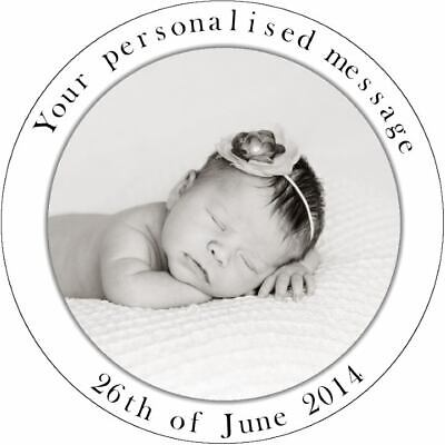 PERSONALISED PHOTO CAKE AND CUPCAKES TOPPER EDIBLE - Up To 7.5 Inches
