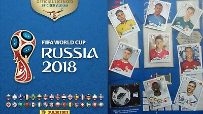 lot stickers panini foot 2018 coupe du monde Russie vignettes au choix