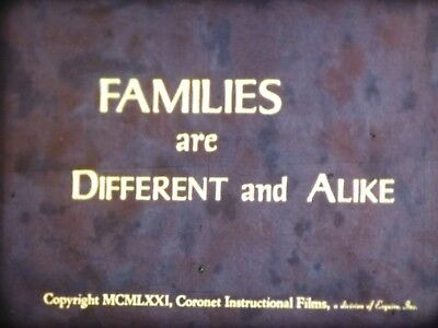 Families Are Different And Alike 1970 16mm short film Documentary