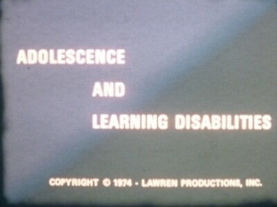Adolescence and Learning Disabilities 1974 16mm short film Documentary