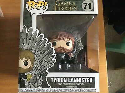 Pop! Tyrion Lannister Sitting on Iron Throne n°71 BOITE ABIM Game of Thrones