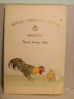 Menù ROYAL CRESCENT HOTEL_Easter Sunday_Brighton 1929
