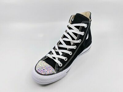 Crystal Converse Chuck Taylor All Star High Tops in Black