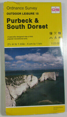 1994 Old OS Ordnance Survey Outdoor Leisure Map 15 Purbeck & South Dorset