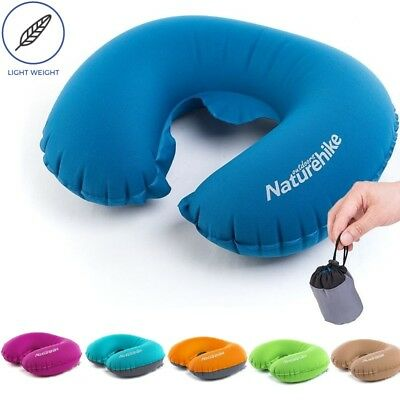 Inflatable U-shape Pillow Travel Neck Protect Cushion Lightweight Soft Portable