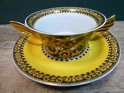 """Versace By Rosenthal, Germany  """"Barocco"""" Cream Soup Cup And Saucer. Stunning!"""