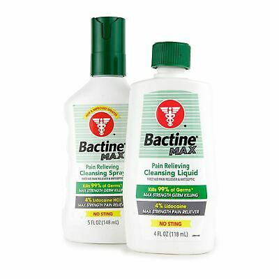 BAYER Bactine Max Tattoo Pain Relieving Antiseptic Cleansing Spray or Liquid