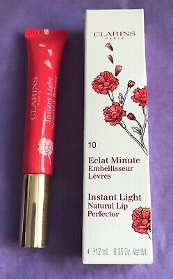 Clarins Instant Light Natural Lip Perfector Balm 10 Pink Shimmer BNIB 12ml