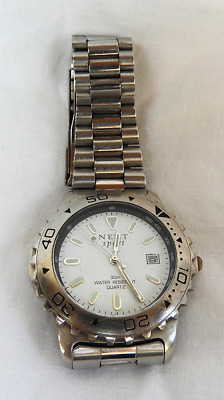 Next Gents Sport Watch - 30m Water Resistant - Stainless Steel - New Battery