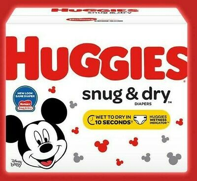HUGGIES Snug & Dry Disposable Diapers Size 5 (27+lbs.) *Free 2 day ship *baby