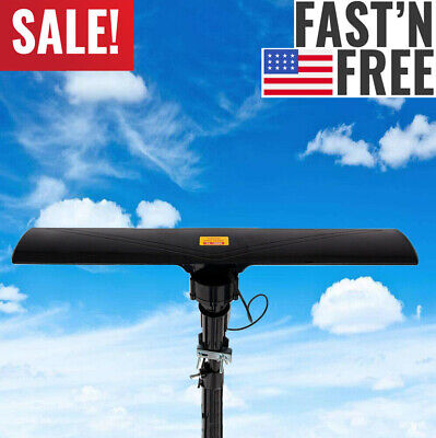 Long Range 990 Miles Outdoor Amplified HD TV Antenna High Gain 20±3dB UHF/VHF/FM