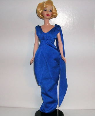 Barbie MARILYN MONROE Blue Grecian Glamour Gown & Shoes ENSEMBLE ONLY - NO DOLL