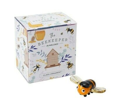 Cute Coloured Glass Miniature Bumble Bee Ornament Collectable Gift bee lovers