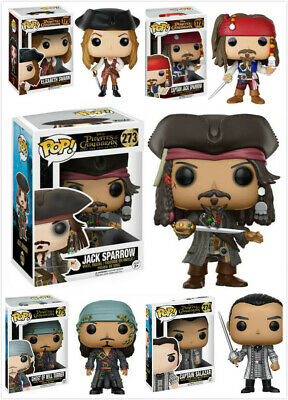 Pirates of the Caribbean Toy Jack Sparrow/Will/Elizabeth PVC Figure With Pop Box