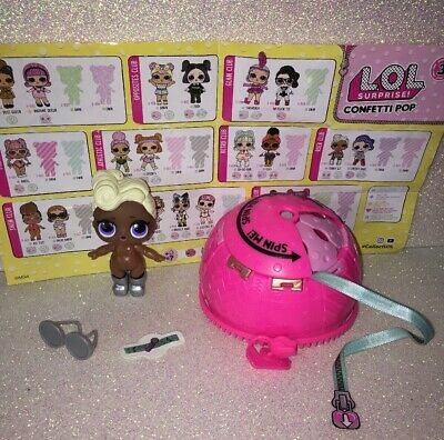 LOL Surprise Confetti Pop----*Funky QT*----African American Girl Doll + Extras!!