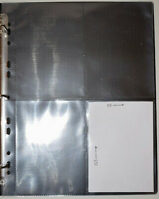 10 x Postcards sleeves Collectors Album Stockcards pages with 4 Pockets per page