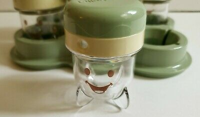 6 Baby Bullet Food Storage Jars Lids  Replacement Container Tray Date Dial EUC