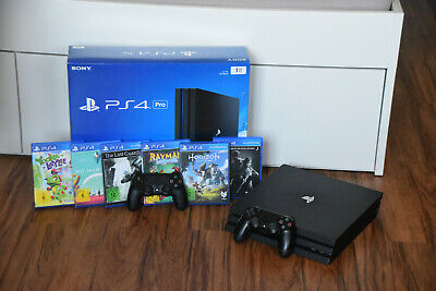 Sony PlayStation 4 pro PS4 pro - 1 TB - 2 Controller - 8 Spiele