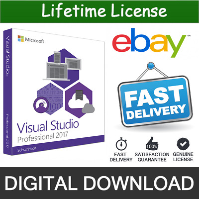 Visual Studio 2017 Professional Lifetime License Key Unlimited PC 1 Sec Delivery