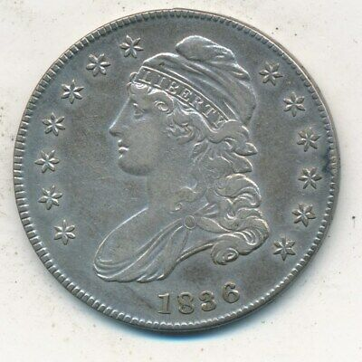 1836 Capped Bust Silver Half Dollar-Incredibly Nice Lightly Circulated-Free S/H!