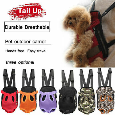 Pet Puppy Dog Cat Carrier Backpack Front Net Bag Tote Sling Carrier Nylon Mesh