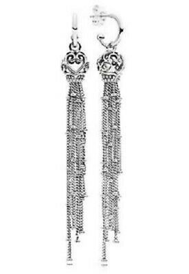 New Authentic Pandora Enchanted Tassels Drop Earrings 297115 W Hinged Box