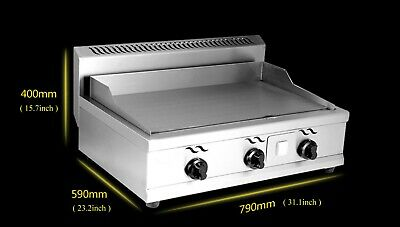 Stainless Commercial Kitchen Countertop Flat Griddle Grill 2000PA Natural Gas