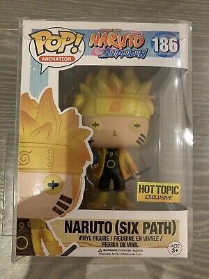 Funko POP! Animation Naruto Six Path Hot Topic Exclusive GITD Glow w/Protector!