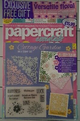 PAPERCRAFT ESSENTIALS Magazine issue 149 floral die and 9 piece stamp set