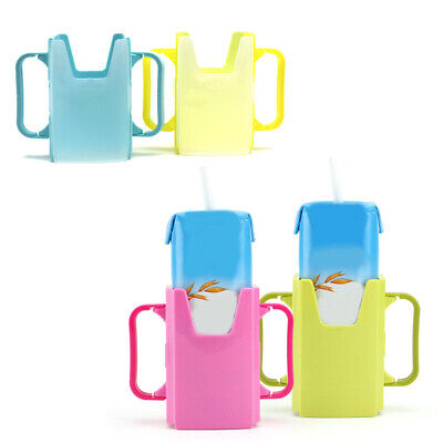 KF_ Telescopic Baby Toddler Juice Milk Safety Box Bottle Cup Holder with Handl