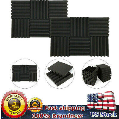 """24 Pack Acoustic Foam Panel Wedge Studio Soundproofing Wall 12""""x12x2"""" US STOCK"""