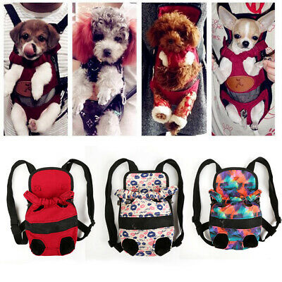 Mesh Pet Puppy Dog  Carrier Front Backpack Net Bag Tote Sling Carrier Leg out